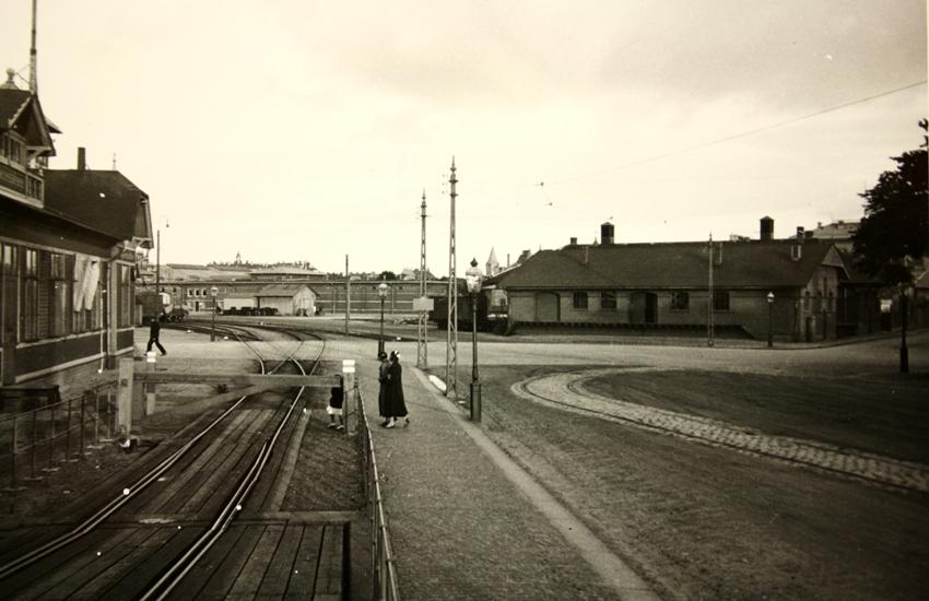 plankorsning med järnväg