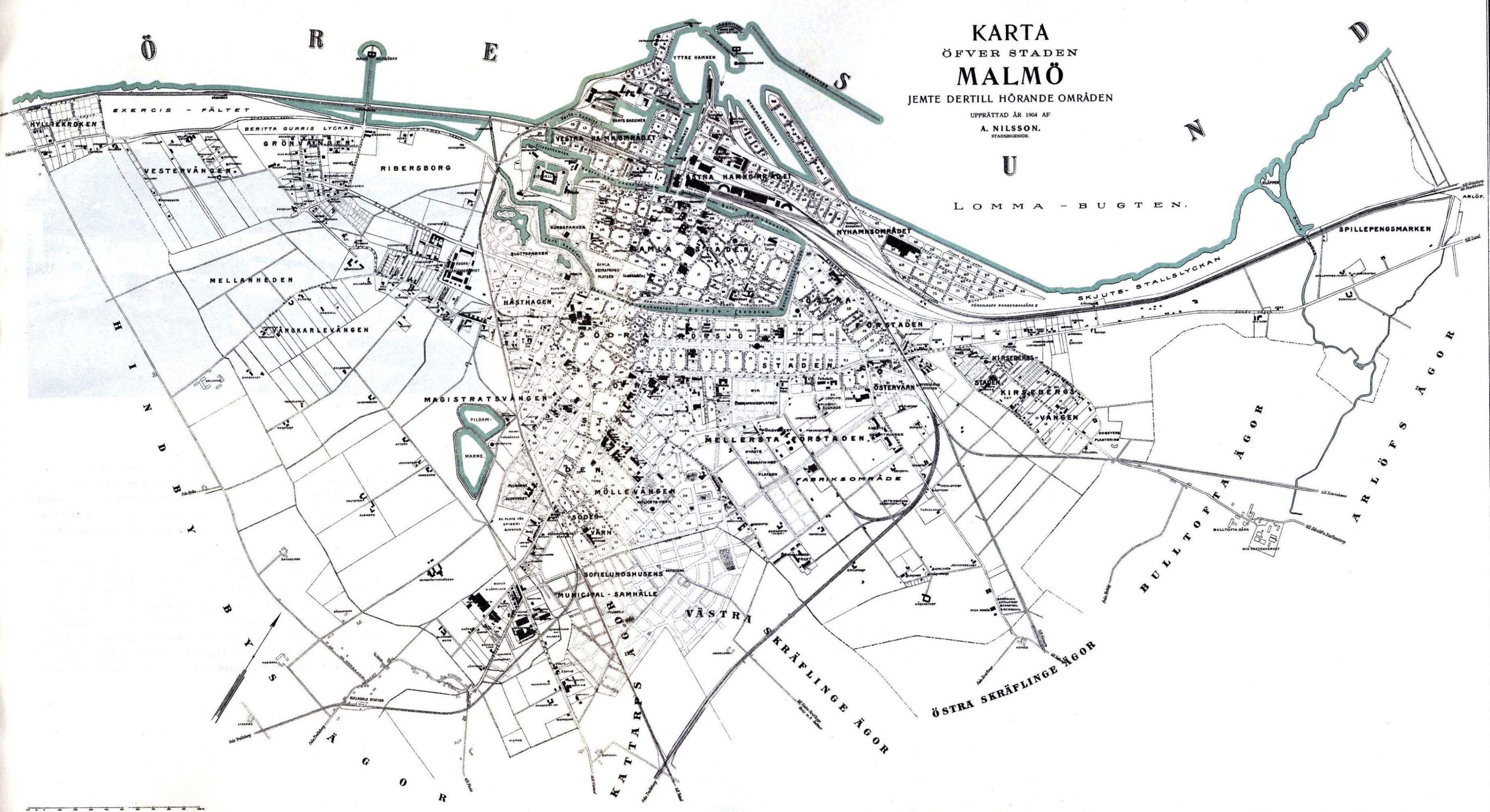 karta över malmö Malmö karta över malmö